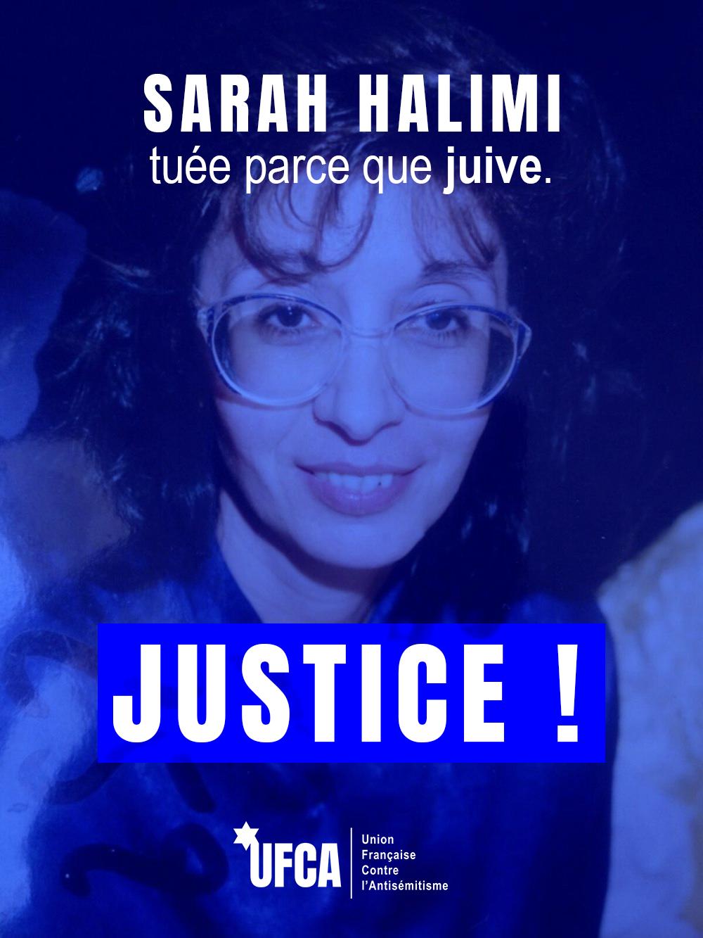 Sarah Halimi, tuée parce que juive.